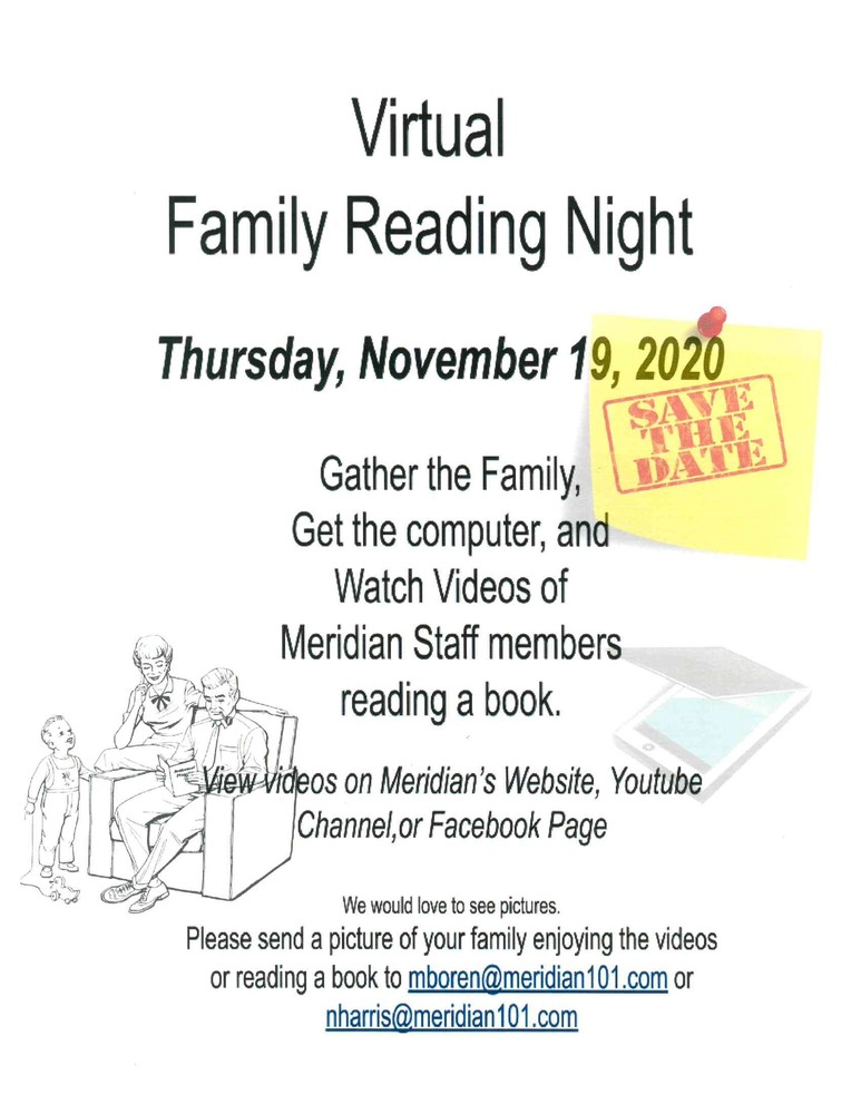 Meridian is Hosting a Virtual Family Reading Night