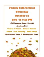 Family Fall Festival Scheduled