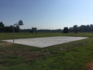 New Outdoor Basketball Court!  Ready to play some Ball!