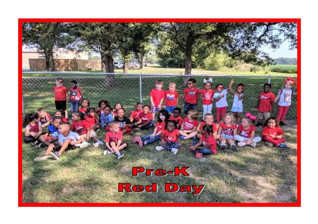 Pre-K Red Day!