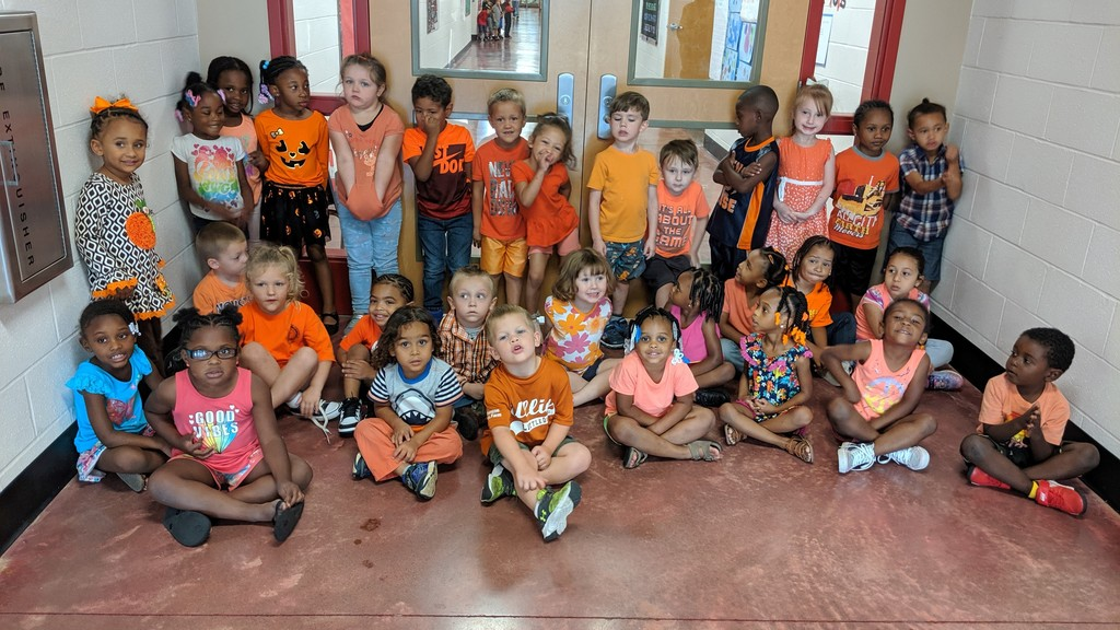 Orange Day in Pre-K!