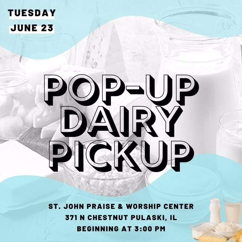Dairy Products Available for Pick Up