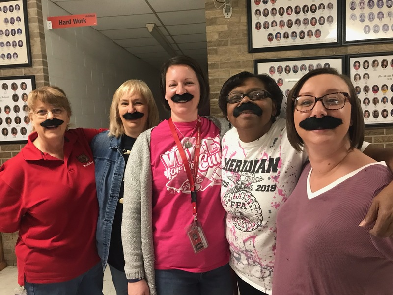 More Education Week Fun - Mustache Day
